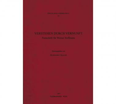 Verstehen durch Vernunft Festschrift für Werner Hoffmann